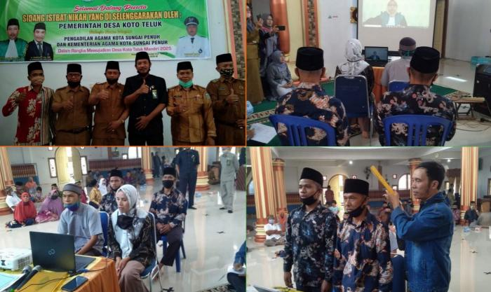 Ka. Kankemenag Apresiasi Pelaksanaan Isbat Nikah di Desa Koto Teluk Kecamatan Hamparan Rawang