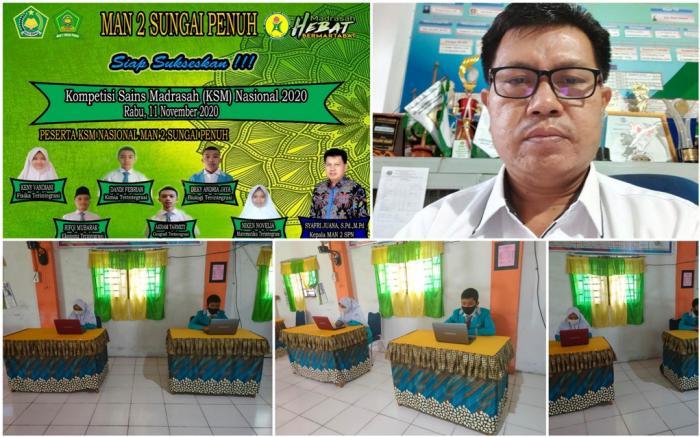MAN 2 Sungai Penuh Berharap agar Madrasah Meraih Prestasi pada KSMO 2020